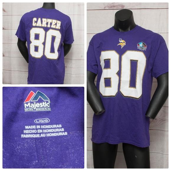 Majestic Chris Carter Minnesota Vikings HOF Tshirt ff8a54c5a